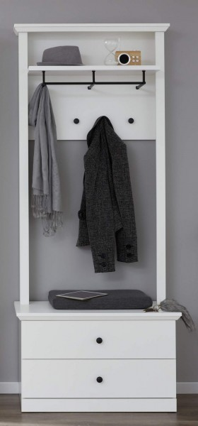 [ Mikka.fifteen ] - Garderobenset Weiß Dekor