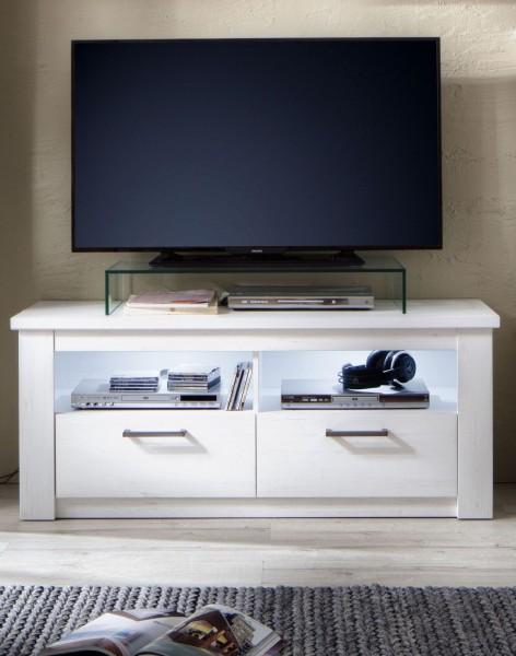 [ Carolina.seven ] - TV Lowboard Pinie Weiß Struktur