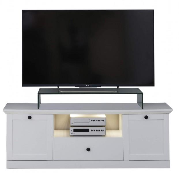 [ Mikka.twentysix ] - TV Lowboard Weiß Dekor