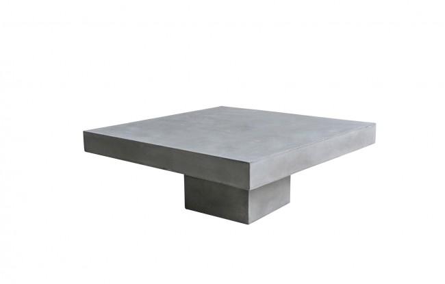 Couchtisch 80 x 80 cm Leichtbeton in grau . Plattenstärke 10 cm