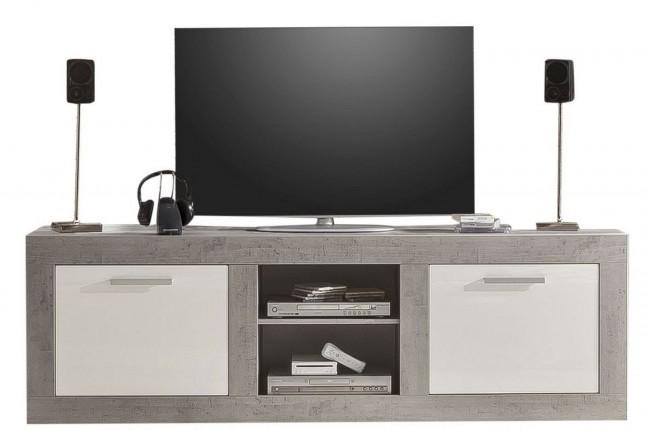 [ Cathy.six ] - TV Lowboard Weiß Hochglanz