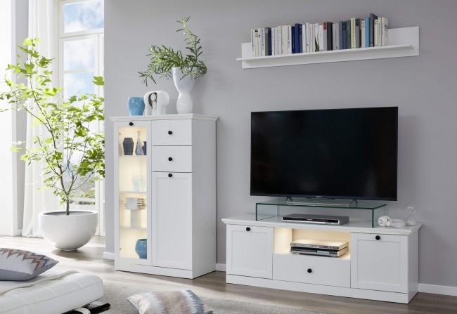 [ Mikka.seven ] - Wohnwand Weiß Dekor