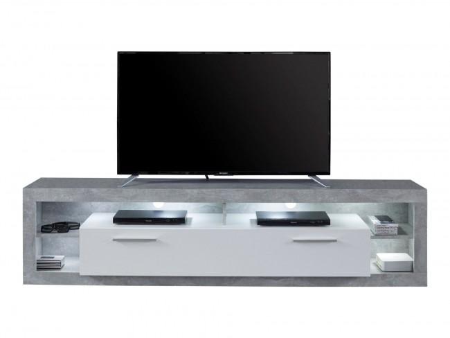 [ Nikki.twentytwo ] - TV Lowboard Weiß Hochglanz