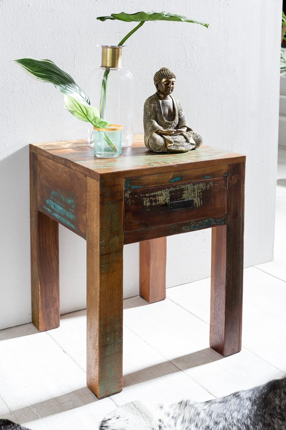 anian shabby chic nachttisch nachtschrank mango holz. Black Bedroom Furniture Sets. Home Design Ideas