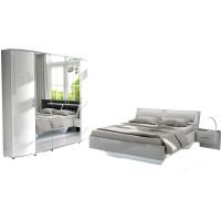[ Helia.ten ] - Schlafzimmer Weiß Hochglanz weiß