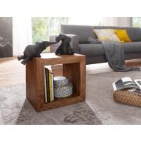 Standregal Massivholz Sheesham 44cm hoch Cube Regal Design Holzregal Naturprodukt Beistelltisch Landhausstil