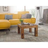 Couchtisch Massiv-Holz Sheesham 60 cm breit Wohnzimmer-Tisch Design dunkel-braun Landhaus-Stil Beistelltisch