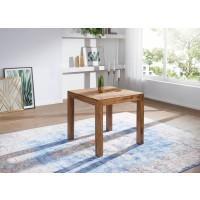 Esstisch Massivholz Sheesham 80 cm Esszimmer-Tisch Holztisch Design Küchentisch Landhaus-Stil dunkel-braun