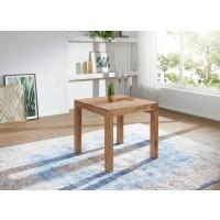 Esstisch Massivholz Akazie 80 cm Esszimmer-Tisch Holztisch Design Küchentisch Landhaus-Stil dunkel-braun