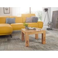 Couchtisch Massiv-Holz Akazie 60 cm breit Wohnzimmer-Tisch Design braun Landhaus-Stil Beistelltisch natur