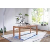 Esstisch Massivholz Akazie 140 cm Esszimmer-Tisch Holztisch Design Küchentisch Landhaus-Stil dunkel-braun