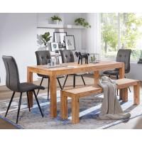 Esszimmer Sitzbank Massiv-Holz Akazie 140 x 45 x 35 cm Holz-Bank Natur-Produkt Küchenbank im Landhaus-Stil