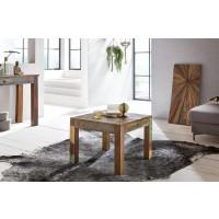 Couchtisch 60 x 60 cm Recycling Vintage Massiv-Holz Wohnzimmertisch - Design Beistelltisch Landhaus Sofatisch - Tisch Wohnzimmer Shabby-Chic Mango Bootsholz