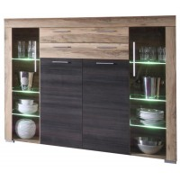 [ Alica.four ] - Highboard Nussbaum Satin