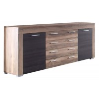 [ Alica.eight ] - Sideboard Nussbaum Satin