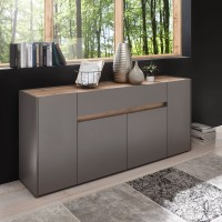 [ Lennox.three ] - Sideboard Anthrazit Wotan Eiche
