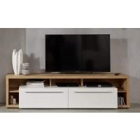 [ Gea.fifteen ] - TV Lowboard Weiß Hochglanz
