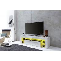 [ Donar.one ] - TV Lowboard Weiß Hochglanz