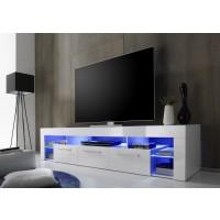 [ Donar.three ] - TV Lowboard Weiß Hochglanz