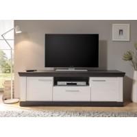 [ Leni.six ] - TV Lowboard mit Pinie Weiß Nachbildung