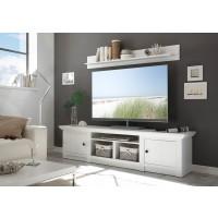 [ Max.ten ] - TV Lowboard mit Pinie Weiß Nachbildung